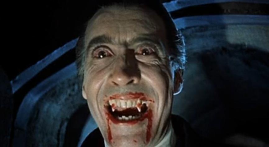 """Dracula 1958 c"" by Screenshot from ""Internet Archive"" of the movie Dracula (1958) - http://www.archive.org/details/HorrorOfDracula-Trailer. Licensed under Public Domain via Wikimedia Commons - http://commons.wikimedia.org/wiki/File:Dracula_1958_c.jpg#/media/File:Dracula_1958_c.jpg"
