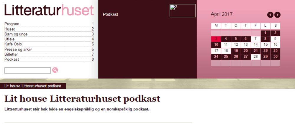 Literaturhuset podcasts